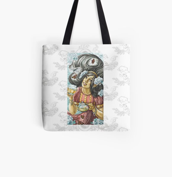 Dragonfly Tea All Over Print Tote Bag