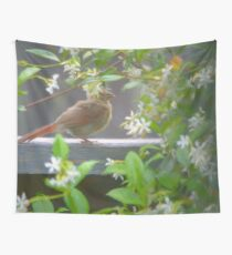 Baby Cardinal First Steps Wall Tapestry