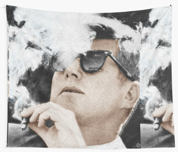 e37882e14cc John F Kennedy Cigar And Sunglasses