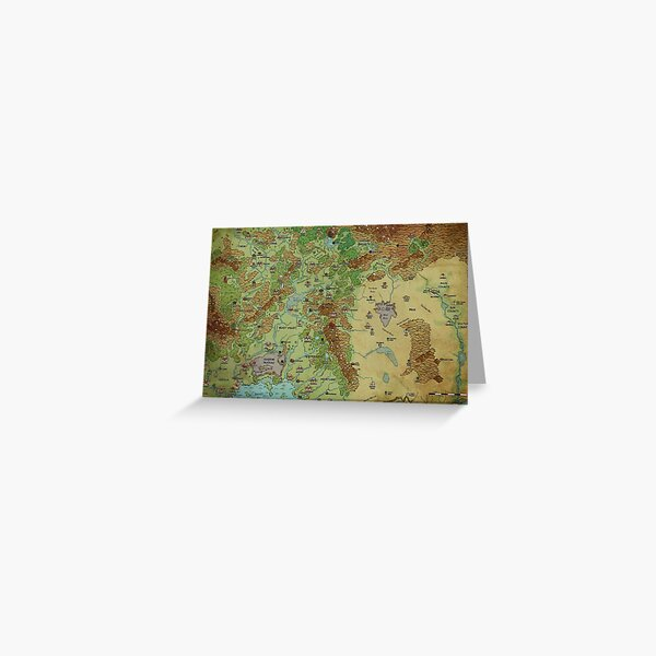 Dragon Pass and Prax Map by Darya Makarava Greeting Card