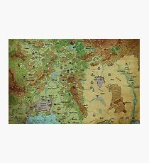 Dragon Pass and Prax Map by Darya Makarava Photographic Print