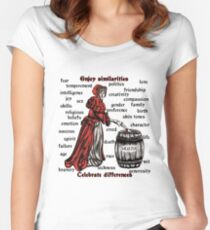Embrace similarities Celebrate differences Women's Fitted Scoop T-Shirt