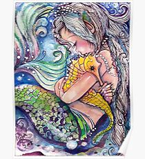 SeaHorse Hugs Poster