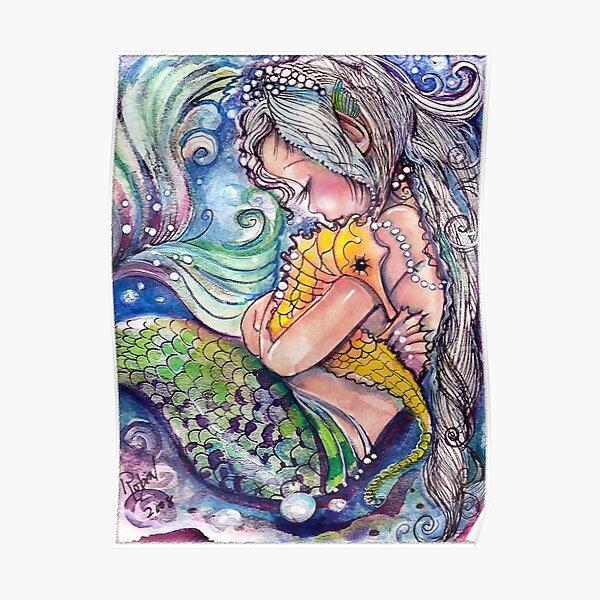 SeaHorse Hugs Poster