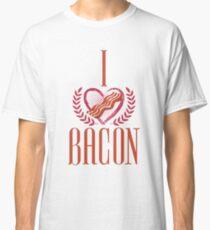 I Love Bacon Nerd Geek  Classic T-Shirt