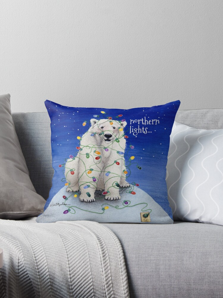 Will Bullas / pillow / tote / northern lights... / humor / animals by Will Bullas