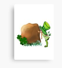 Kiss the Blarney Stone for Luck Canvas Print