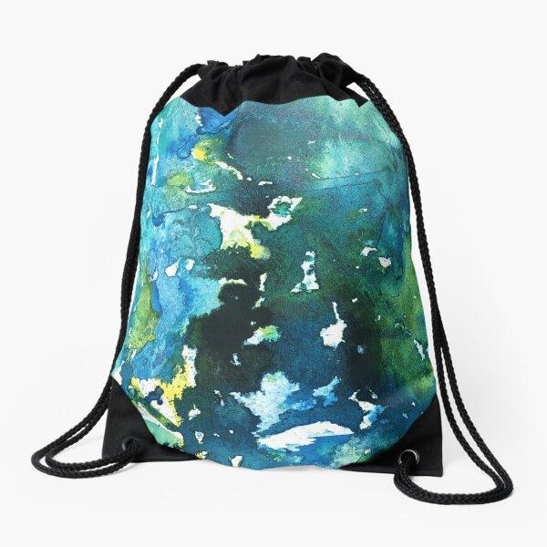 Teal We Meet Again Drawstring Bag
