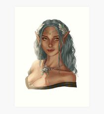 elf girl Art Print