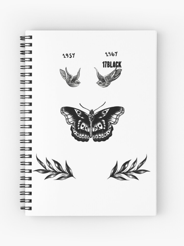 Harry Styles Tattoos Spiral Notebook