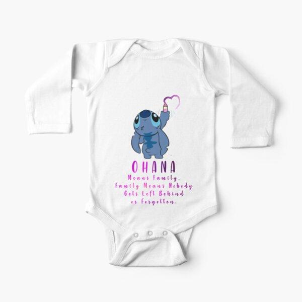 Lilo and Stitch Ohana Long Sleeve Baby One-Piece