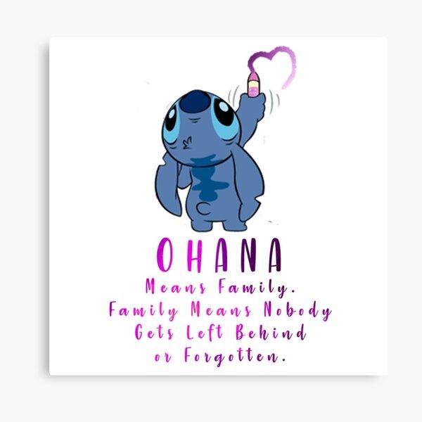 Lilo and Stitch Ohana Canvas Print