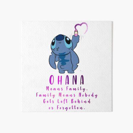 Lilo and Stitch Ohana Art Board Print