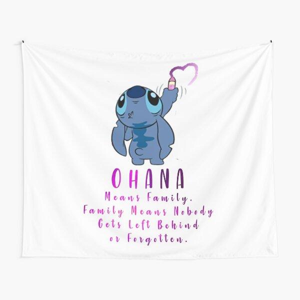 Lilo y Stitch Ohana Tela decorativa