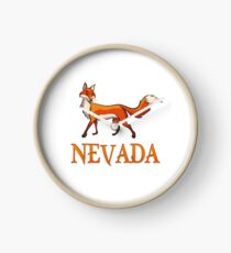 Nevada Fox Clock