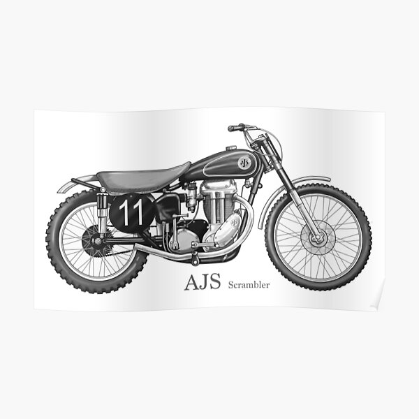 Ajs Londres Guardabarros Estilo Clásico Motocicleta pegatina