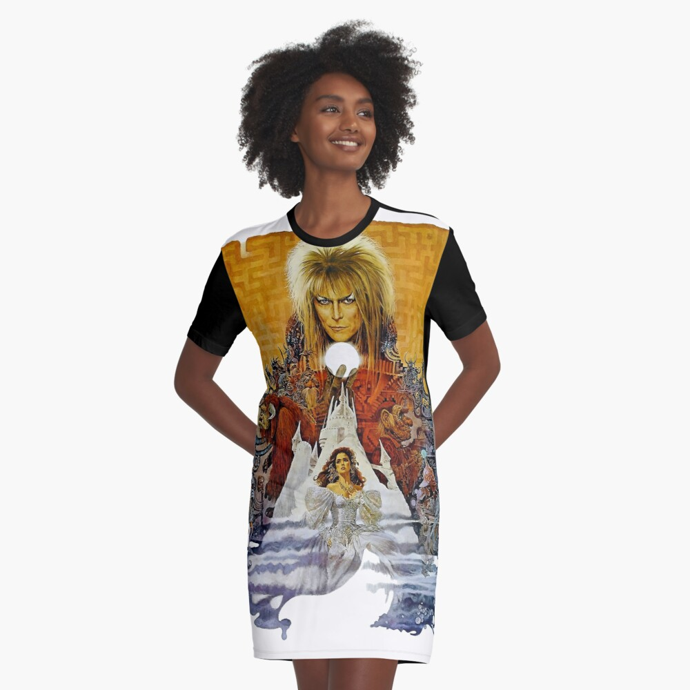 Labyrinth Graphic T-Shirt Dress