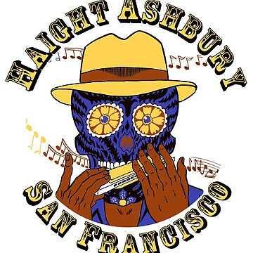 Sugar Skull Haight Ashbury by Steve Lafler by blandook