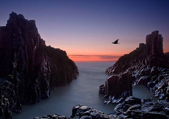 Early Morning at Bombo Rocks by Chris  Randall