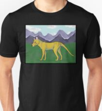 Thylacine and Mountains T-Shirt