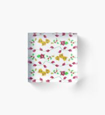 Floral - Bougainville Acrylic Block