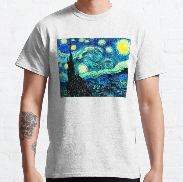 STARRY NIGHT: Vincent Van Gogh Famous Painting Print  Classic T-Shirt