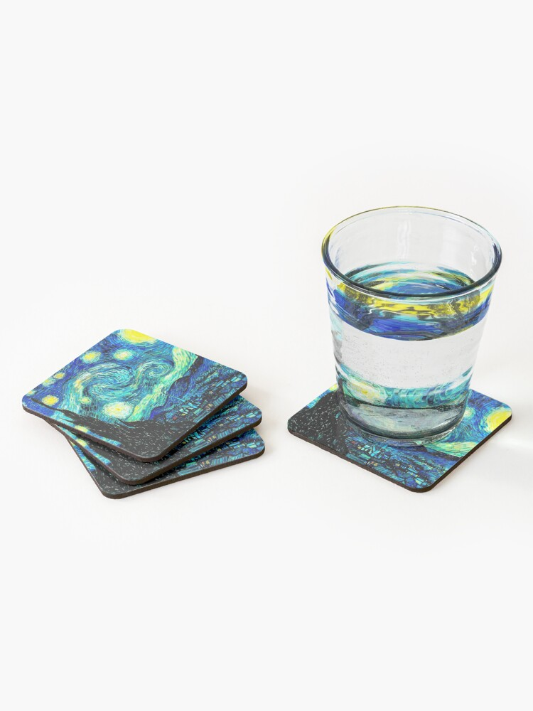 Alternate view of STARRY NIGHT: Vincent Van Gogh Famous Painting Print  Coasters (Set of 4)