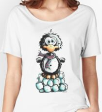 Cute Penguin On Ice Women's Relaxed Fit T-Shirt