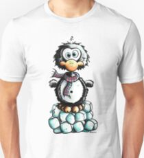 Cute Penguin On Ice Unisex T-Shirt