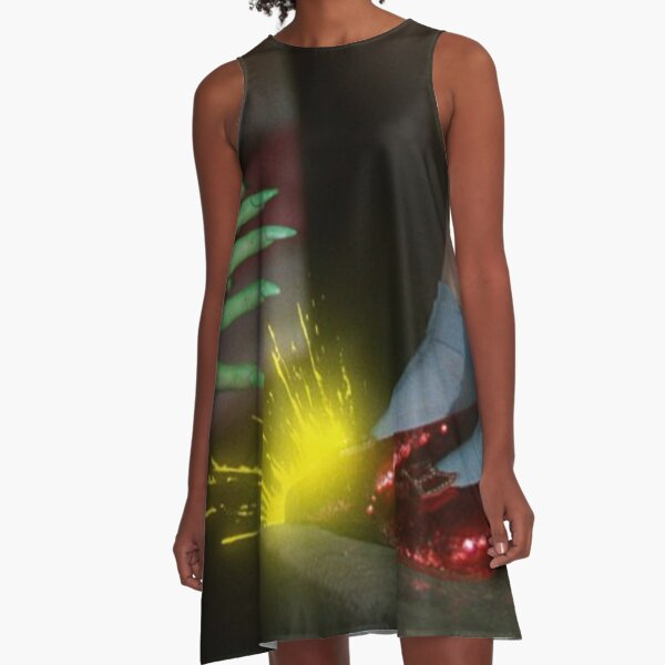 The Wizard of Oz Ruby Slippers Scene A-Line Dress