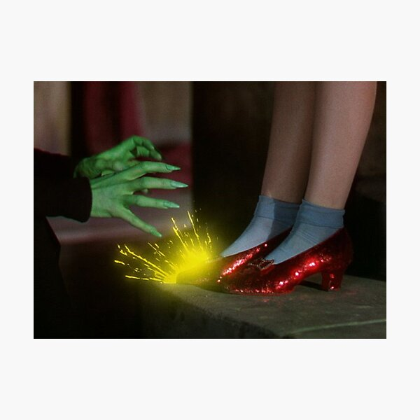 The Wizard of Oz Ruby Slippers Scene Photographic Print