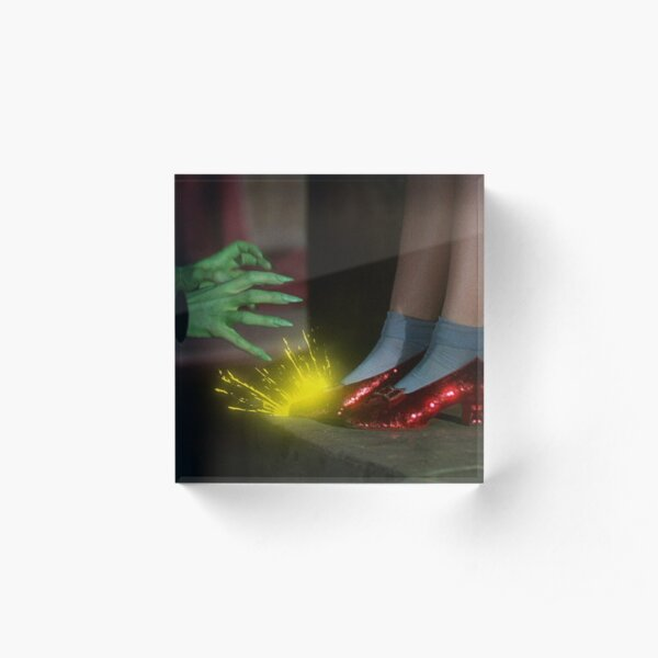 The Wizard of Oz Ruby Slippers Scene Acrylic Block