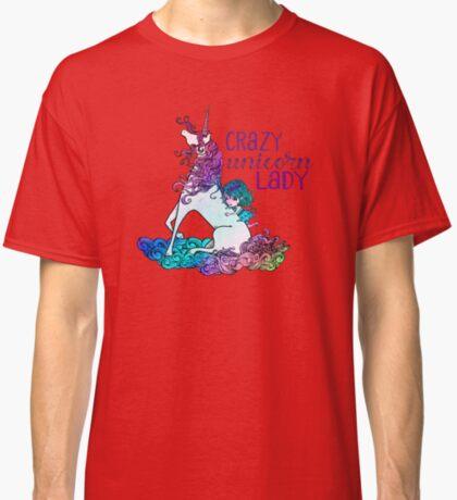 Crazy Unicorn Lady Classic T-Shirt