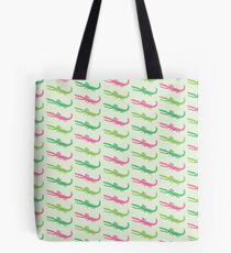 happy alligator pink Tote Bag