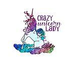 Crazy Unicorn Lady by jitterfly