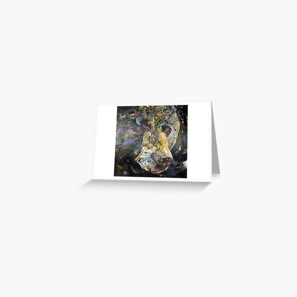 Black Bear Close-Up Collage Art Greeting Card