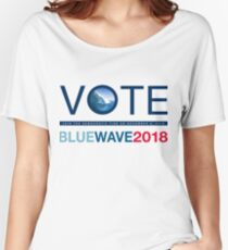 Blue Wave 2018 Women's Relaxed Fit T-Shirt