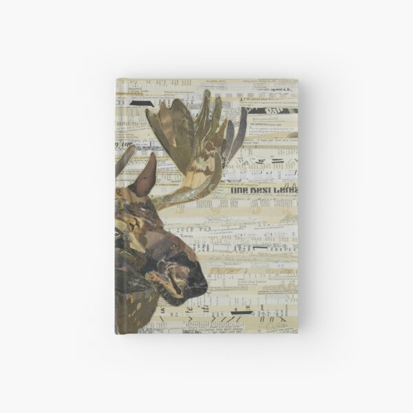 Eastern Moose Collage by C.E. White Hardcover Journal