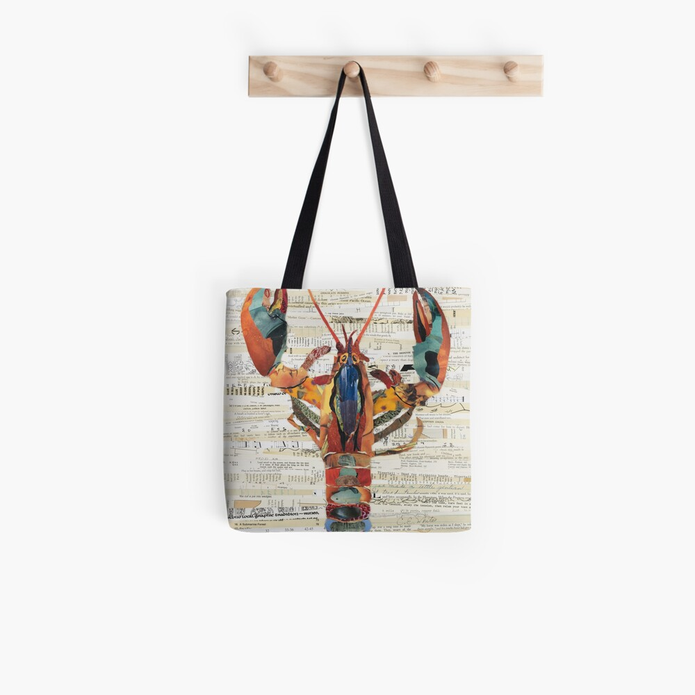 Lobster Collage by C.E. White  Tote Bag