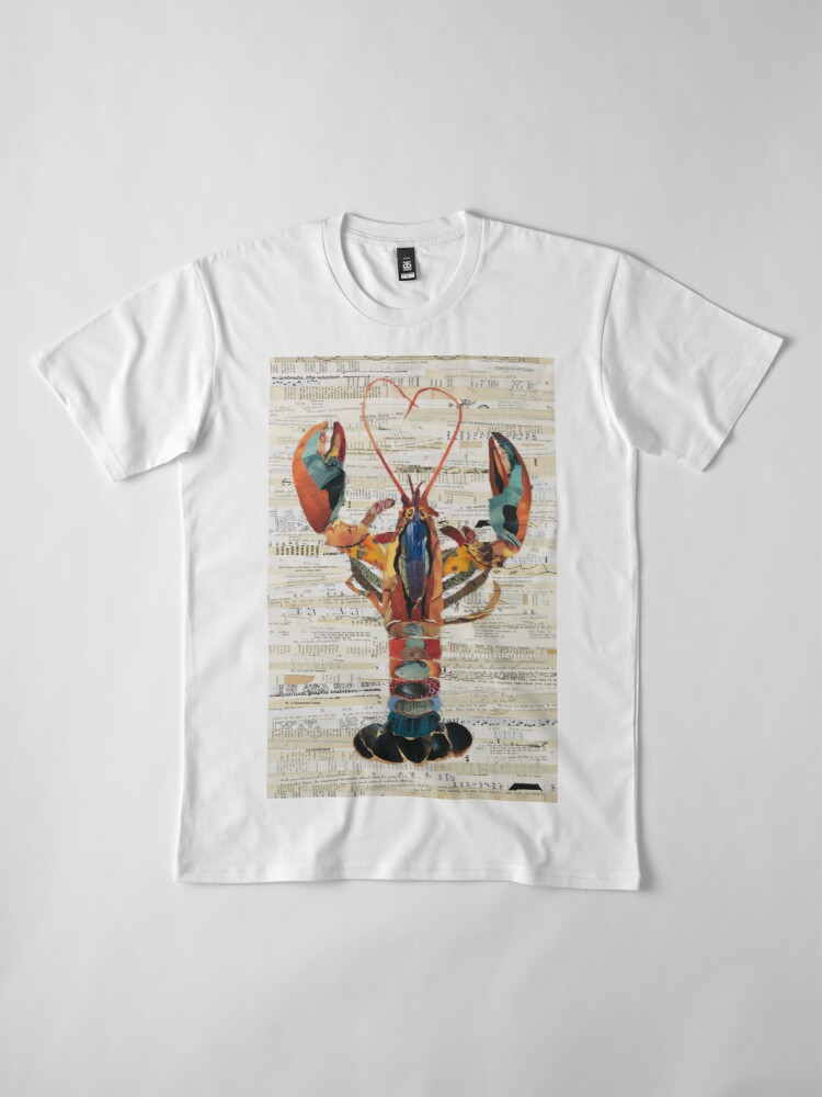 Alternate view of Lobster Collage by C.E. White  Premium T-Shirt