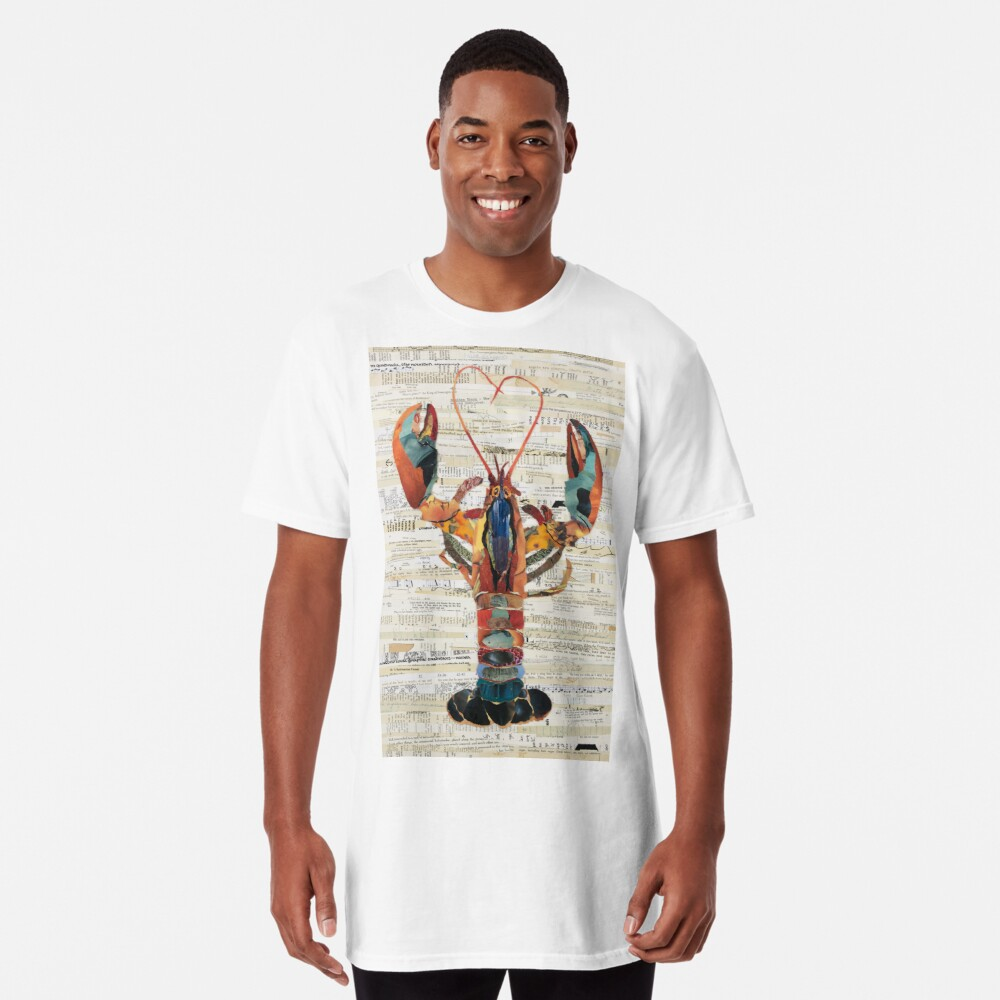 Lobster Collage by C.E. White  Long T-Shirt