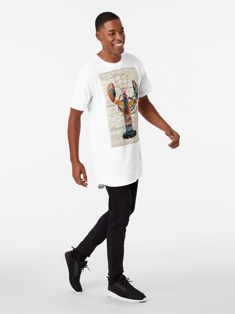 Alternate view of Lobster Collage by C.E. White  Long T-Shirt