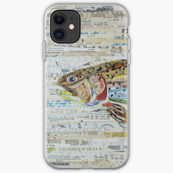 Rainbow Trout Collage by C.E. White - Fly Fishing (v2) iPhone Soft Case