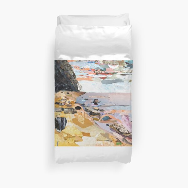 Rocky Beach Collage Art Duvet Cover