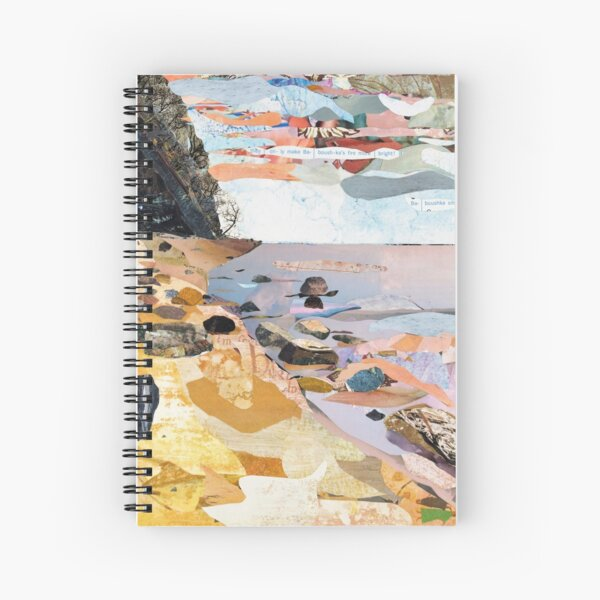Rocky Beach Collage Art Spiral Notebook