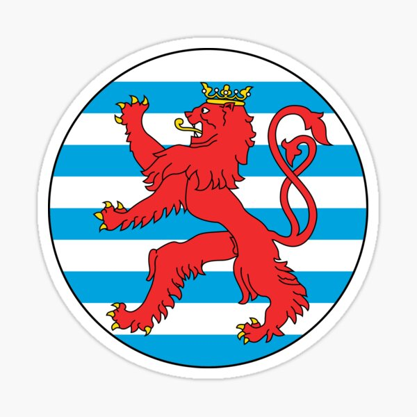 Roundel of Luxembourg Sticker