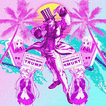 Conservative Vaporwave Anime - Kiniro Mosaic - Jojo's Bizarre Adventure  by TheLoneNub