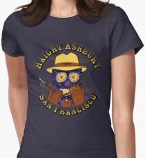 Sugar Skull Haight Ashbury by Steve Lafler Women's Fitted T-Shirt