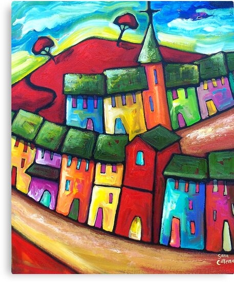 PLAYFUL WIND ON THE HILL by Sara Catena
