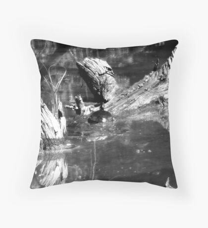 Turtle Black&White Throw Pillow